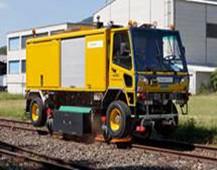 瑞士公铁两用数字钢轨打磨车